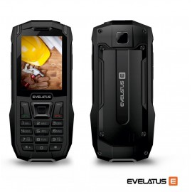 Mobiiltelefon Evelatus Rock, Must-Oranz