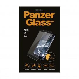 Nokia 5.1 PanzerGlass kumer ekraanikaitseklaas, Must