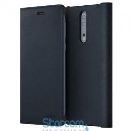 Kaitseümbris klapiga Nokia 8 Leather Flip , Sinine