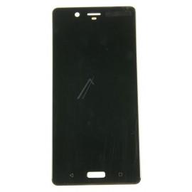 Nokia 8 / 8 Dual (TA-1012 / TA-1004) Originaal displei moodul klaas + LCD ekraan, Must