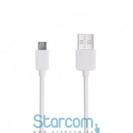 Data/Laadimis kaabel Micro USB 1m , Valge