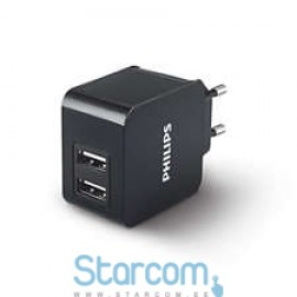 Philips Wall Charger Adapter Dual USB