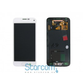 Puutetundlik klaas ja LCD ekraan SAMSUNG GALAXY S5 mini (SM-G800), valge