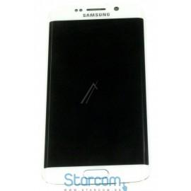 Puutetundlik klaas ja LCD ekraan GALAXY S6 EDGE (SM-G925F), Valge GH97-17162B