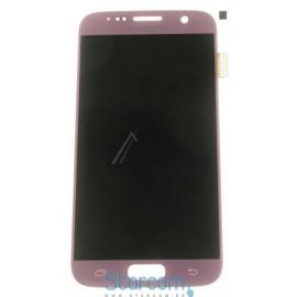 Puutetundlik klaas ja LCD ekraan Samsung GALAXY S7 (SM-G930), Roosa/Kuldne GH97-18523E