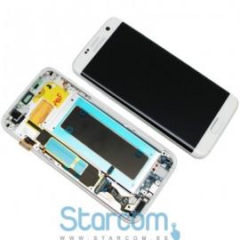 Puutetundlik klaas ja LCD ekraan SAMSUNG S7 EDGE (SMG935F), WHITE