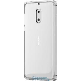 Kahepoolne silikonist ümbris / tagakaas Originaal Nokia 6 CC-703 Hybrid crystal case , Läbipaistev