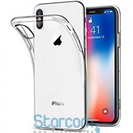 Silikoonist tagakaas / ümbris Apple iPhone X, Läbipaistev