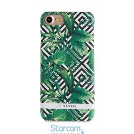 Tagakaas Apple iPhone 7 cover Jungle Palmier + PowerBank 2600 mAh by So Seven, Green SVNBNJUN1IP7