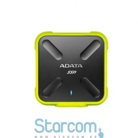 Väline kõvakettas ADATA Externall SSD SD700 512 GB, USB 3.1, Black, Yellow