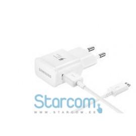 Micro USB Originaal Laadija Samsung 2A , Valge EP-TA12EWEUGWW