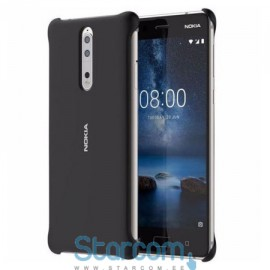 Originaal tagakaas / ümbris Nokia 8 Soft touch case , Must