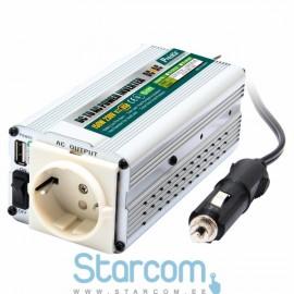 DC-AC inverter TE-1201UB 12V DC - 230V AC 50Hz 150W USB
