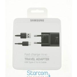 USB-C Laadija Samsung 2A / 15W (Kiirlaadija), Must EP-TA20EBECGWW