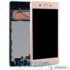 Puutetundlik klaas ja LCD ekraan Sony Xperia X (F5121) roosa