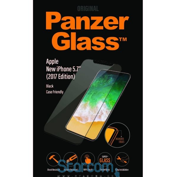 7391ff158a7 Ekraanikaitseklaas Apple iPhone X / XS , ümbrisesõbralik, Must, PanzerGlass